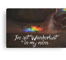 Wanderlust in my Veins Canvas Print