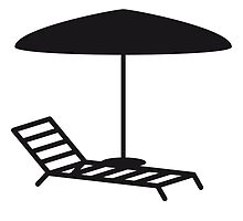 Deck chair umbrella vacation recreation by Style-O-Mat