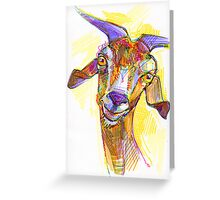 Goat drawing Greeting Card