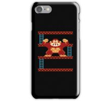 Classic 8 bit monkey  iPhone Case/Skin