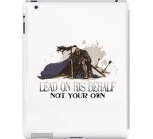 Warrior On His Behalf iPad Case/Skin