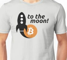 Bitcoin to the moon! Unisex T-Shirt