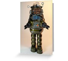 Billiken Shokai Tin Wind Up Robby the Robot Greeting Card