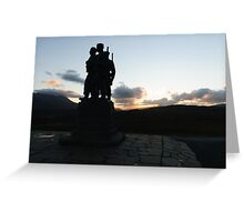 The Commando Monument Greeting Card