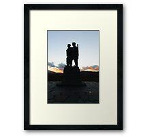 The Commando Monument Framed Print