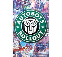 Autobots, coffee break.  Photographic Print