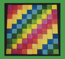 Rainbow Blocks One Piece - Short Sleeve