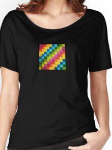 Rainbow Blocks Women's Relaxed Fit T-Shirt