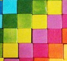 Rainbow Blocks Sticker