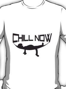 Chill now hammock sleep cozy holiday logo T-Shirt