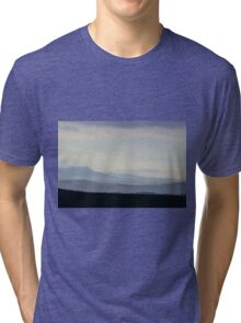 Impressions, Val D'Orcia from Asciano, Tuscany, Italy Tri-blend T-Shirt