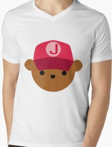 """ABC Bears - """"J Bear"""" Mens V-Neck T-Shirt"""