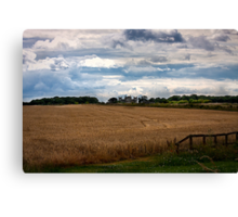 Over the fields towards Seaton Delaval Hall Canvas Print