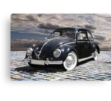 black old beetle Canvas Print