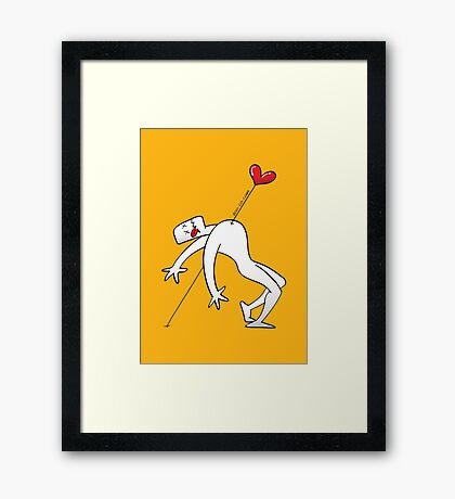 A Lucky Man Pinned by Love Framed Print