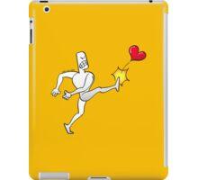 Mad Man Kicking a Heart iPad Case/Skin