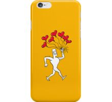 Man Walking with Heart Balloons iPhone Case/Skin