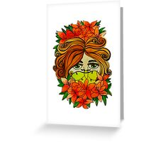 Lady of the Lilies Greeting Card