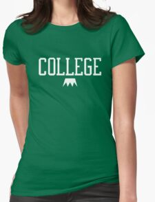 I Love College Womens Fitted T-Shirt