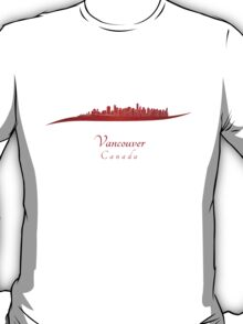 Vancouver skyline in red T-Shirt