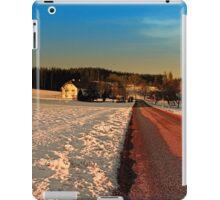 Country road through winter wonderland | landscape photography iPad Case/Skin