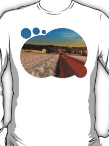 Country road through winter wonderland | landscape photography T-Shirt