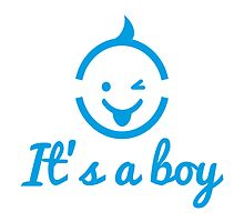 it's a boy design with cute face icon  by beakraus
