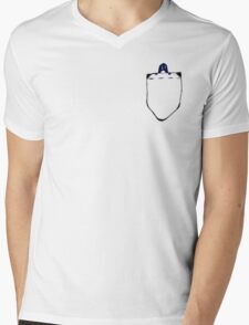 penguin pocket Mens V-Neck T-Shirt