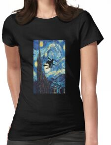 Harry Potter The Starry Night  Womens Fitted T-Shirt