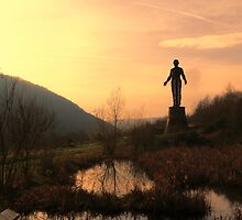 The Gurdian mining disaster monument at Six Bells by Trevor Durrell