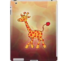 Red Heart Spotted Giraffe iPad Case/Skin