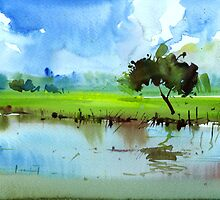 Sky N Farmland by Anil Nene