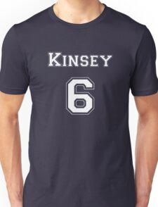 Kinsey6 - White Lettering Unisex T-Shirt