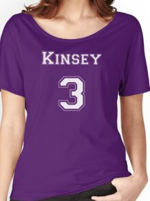 Kinsey3 - White Lettering Women's Relaxed Fit T-Shirt