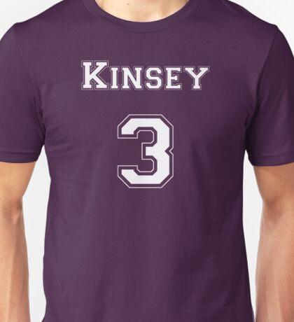Kinsey3 - White Lettering Unisex T-Shirt