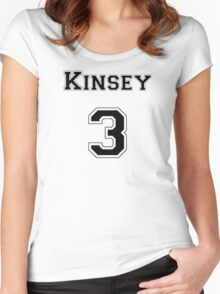 Kinsey3 - Black Lettering Women's Fitted Scoop T-Shirt