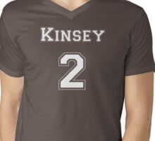 Kinsey2 - White Lettering Mens V-Neck T-Shirt