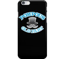POMPOUS old FART with top hat iPhone Case/Skin