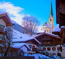 Snow in St Johan, Austria by SaraHardman