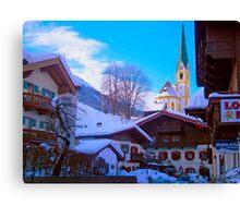 Snow in St Johan, Austria Canvas Print