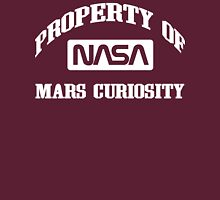 Property of NASA Mars Curiosity Rover Athletic Wear White ink Unisex T-Shirt