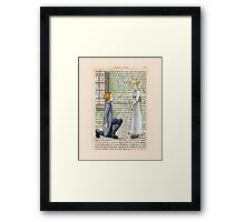 Pride and Prejudice - Jane And Mr Bingley Framed Print