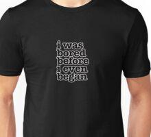 The Smiths Lyrics - i was bored before i even began - size 2 Unisex T-Shirt