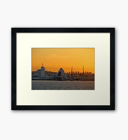 Fremantle Harbour Sunrise Framed Print