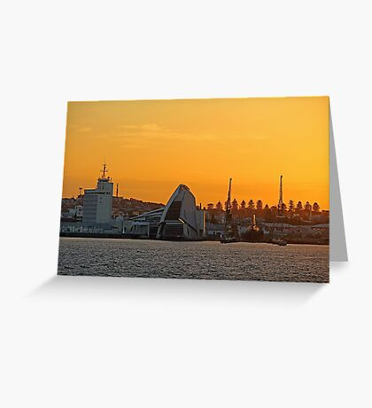Fremantle Harbour Sunrise Greeting Card