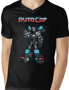 AUTOCOP Mens V-Neck T-Shirt