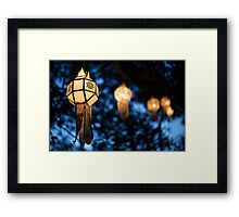 Lanterns and Bokeh Framed Print