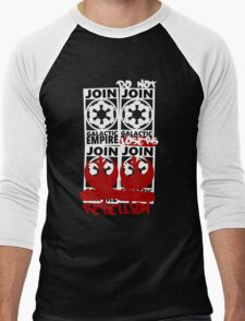GALACTIC EMPIRE - wrong propaganda Men's Baseball ¾ T-Shirt