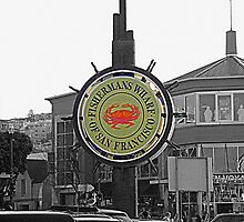 Firhermans Wharf Sign , San Francisco by printerbill