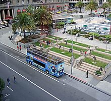 Union Square San Francisco , Oasis  by Bill Lighterness